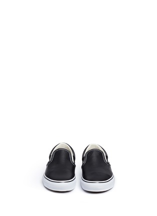 Front View - Click To Enlarge - Vans - 'Classic LX' leather skate slip-ons