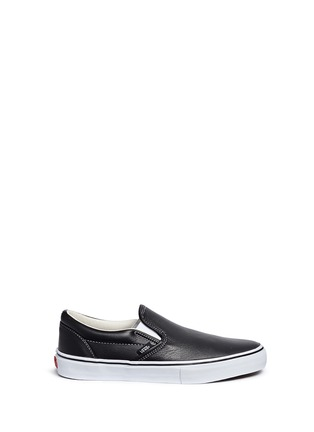 Main View - Click To Enlarge - Vans - 'Classic LX' leather skate slip-ons