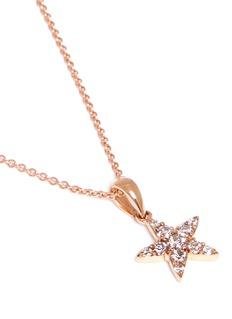 Khai Khai 'Star' diamond pendant necklace