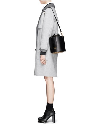 Figure View - Click To Enlarge - Alexander Wang  - Stud leather bucket bag