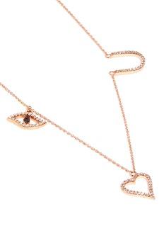 Khai Khai 'Eye Luv U' diamond pendant necklace