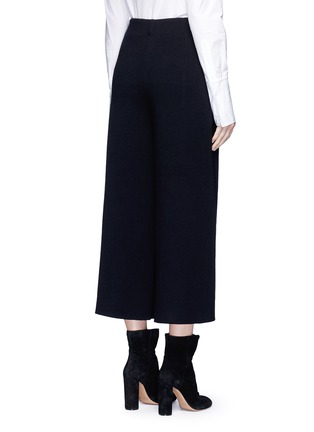 Back View - Click To Enlarge - MO&CO. EDITION 10 - Wool rib knit cropped wide leg pants