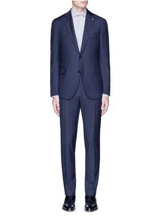 Main View - Click To Enlarge - Lardini - 'Leisure' regular fit wool suit
