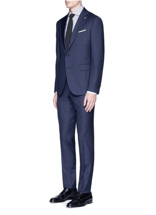 Figure View - Click To Enlarge - Lardini - 'Leisure' regular fit wool suit