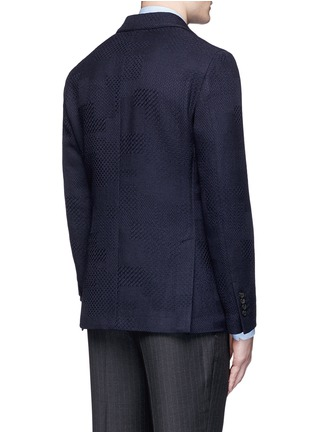 Back View - Click To Enlarge - Lardini - Python wool jacquard soft blazer