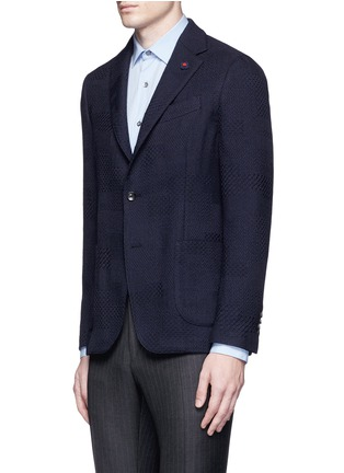 Front View - Click To Enlarge - Lardini - Python wool jacquard soft blazer