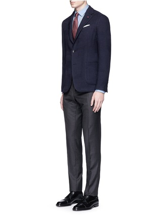 Figure View - Click To Enlarge - Lardini - Python wool jacquard soft blazer