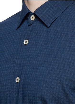 Detail View - Click To Enlarge - Lardini - Houndstooth print cotton shirt