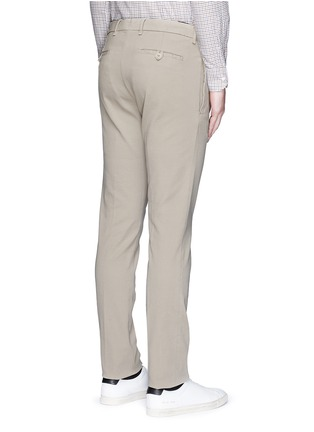 Back View - Click To Enlarge - Lardini - Slim fit cotton twill chinos