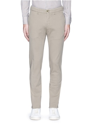 Main View - Click To Enlarge - Lardini - Slim fit cotton twill chinos