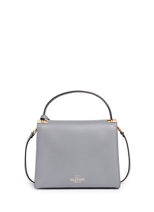 Back View - Click To Enlarge - VALENTINO - 'My Rockstud' small top handle leather bag