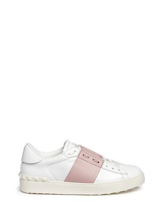 Main View - Click To Enlarge - Valentino - 'Rockstud' colourblock leather sneakers