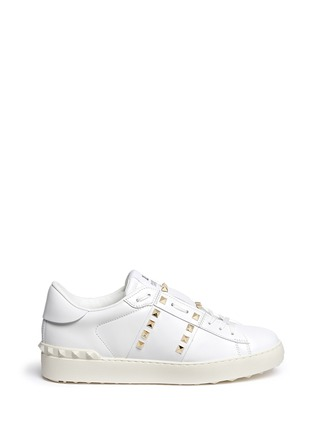 Main View - Click To Enlarge - Valentino - 'Rockstud Untitled 11' leather sneakers