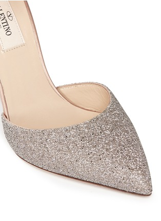 Detail View - Click To Enlarge - Valentino - 'Love Latch' crystal dust wraparound ankle strap pumps