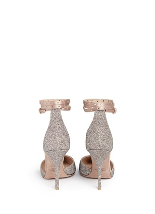 Back View - Click To Enlarge - Valentino - 'Love Latch' crystal dust wraparound ankle strap pumps