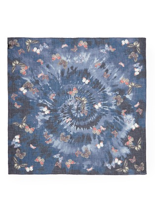 Main View - Click To Enlarge - Valentino - Butterfly tie dye print cashmere-silk-wool scarf
