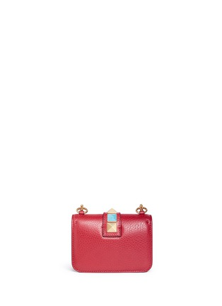 Back View - Click To Enlarge - Valentino - 'Rockstud Rolling Lock' mini leather chain shoulder bag