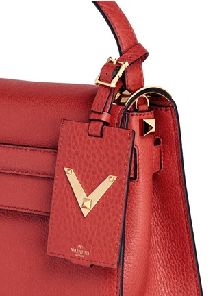 Detail View - Click To Enlarge - Valentino - 'My Rockstud' small top handle leather bag