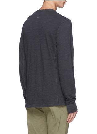 Back View - Click To Enlarge - rag & bone - 'Classic' garment wash Henley shirt