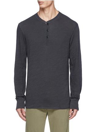 Main View - Click To Enlarge - rag & bone - 'Classic' garment wash Henley shirt