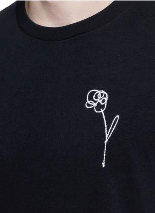 Detail View - Click To Enlarge - rag & bone - Flower embroidery cotton T-shirt