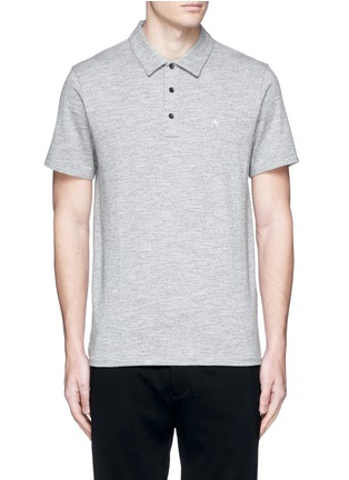 Main View - Click To Enlarge - rag & bone - Standard Issue' cotton blend jersey polo shirt