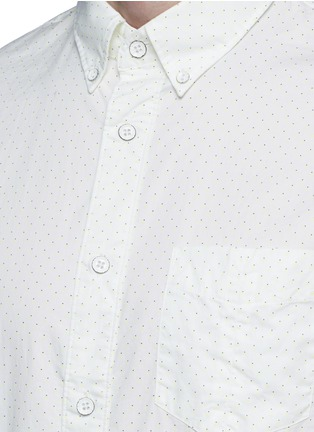 Detail View - Click To Enlarge - rag & bone - Neon dot scratched button Oxford shirt