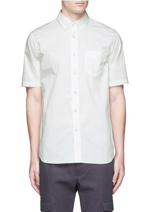 Main View - Click To Enlarge - rag & bone - Neon dot scratched button Oxford shirt