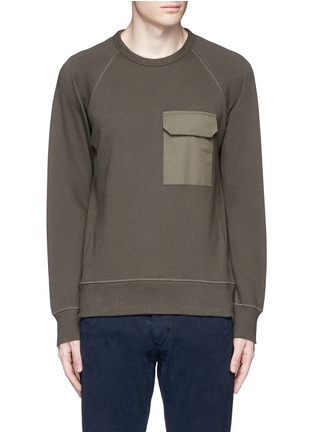 Main View - Click To Enlarge - RAG & BONE - 'Aviator' flap pocket sweatshirt