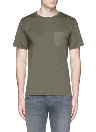 Main View - Click To Enlarge - rag & bone - 'Trooper' contrast pocket jersey T-shirt