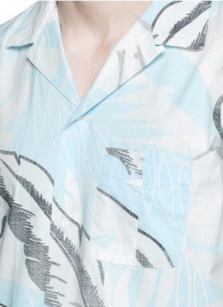 Detail View - Click To Enlarge - rag & bone - 'Kingston' washed out Hawaiian leaf print shirt
