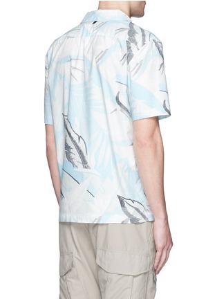 Back View - Click To Enlarge - rag & bone - 'Kingston' washed out Hawaiian leaf print shirt