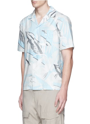 Front View - Click To Enlarge - rag & bone - 'Kingston' washed out Hawaiian leaf print shirt