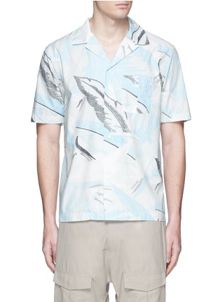 Main View - Click To Enlarge - rag & bone - 'Kingston' washed out Hawaiian leaf print shirt