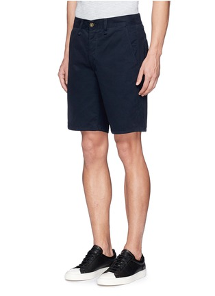 Front View - Click To Enlarge - RAG & BONE - Brushed cotton twill shorts