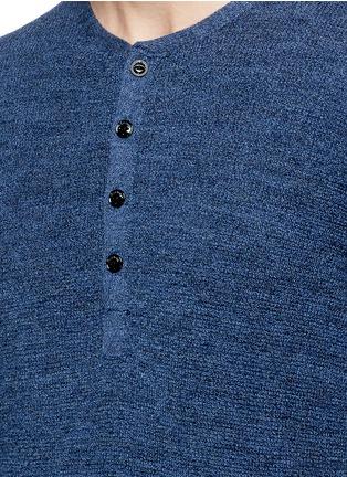 Detail View - Click To Enlarge - RAG & BONE - 'Garrett' Merino wool Henley shirt