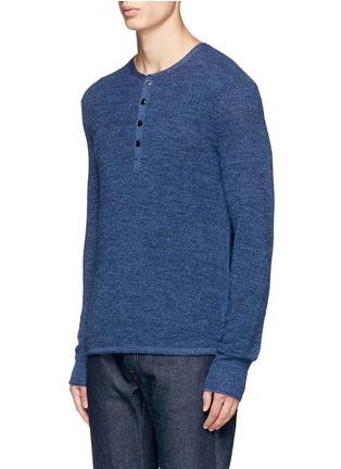 Front View - Click To Enlarge - RAG & BONE - 'Garrett' Merino wool Henley shirt