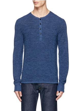 Main View - Click To Enlarge - RAG & BONE - 'Garrett' Merino wool Henley shirt