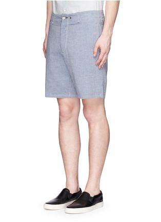 Front View - Click To Enlarge - RAG & BONE - 'Matthew' woven cotton shorts