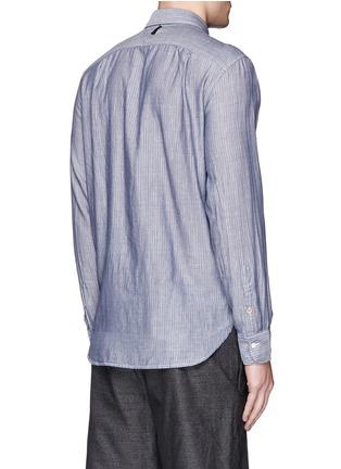Back View - Click To Enlarge - rag & bone - 'Beach' stripe reverse cotton shirt