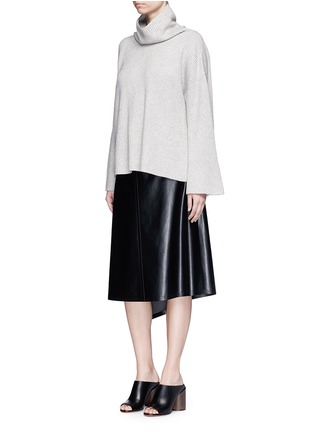Figure View - Click To Enlarge - The Row - 'Kaima' cashmere-silk rib knit sweater