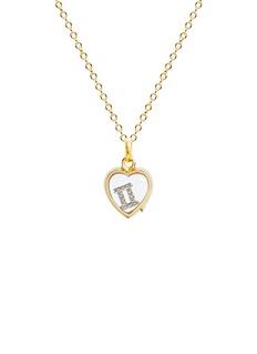 Loquet London 18k white gold diamond zodiac charm - Gemini