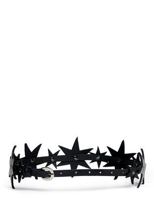 Back View - Click To Enlarge - ZANA BAYNE - 'Constellation' leather belt