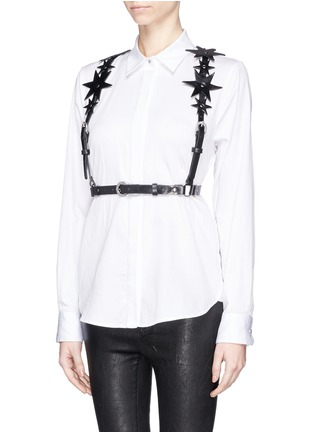 Front View - Click To Enlarge - ZANA BAYNE - 'Constellation' leather harness