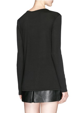 Back View - Click To Enlarge - T By Alexander Wang - Patch chest pocket long sleeve T-shirt