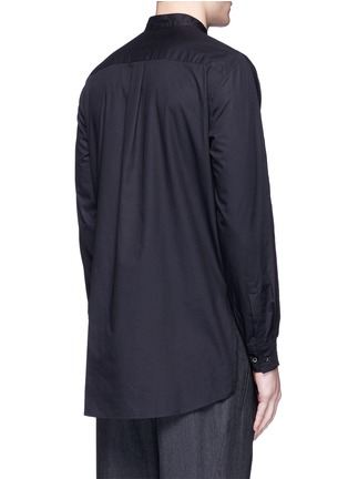 Back View - Click To Enlarge - FFIXXED STUDIOS - Knit front cotton poplin unisex shirt
