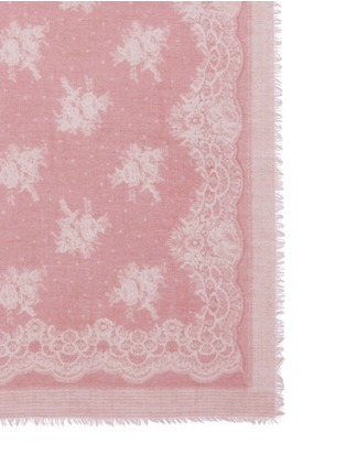 Detail View - Click To Enlarge - Franco Ferrari - 'Evans Wash' lace print wool-cashmere scarf