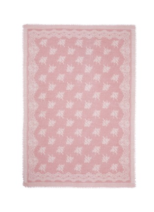 Main View - Click To Enlarge - Franco Ferrari - 'Evans Wash' lace print wool-cashmere scarf
