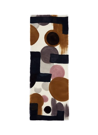 Main View - Click To Enlarge - Franco Ferrari - x Laboratorio Luparia 'Grido' print basketweave wool scarf