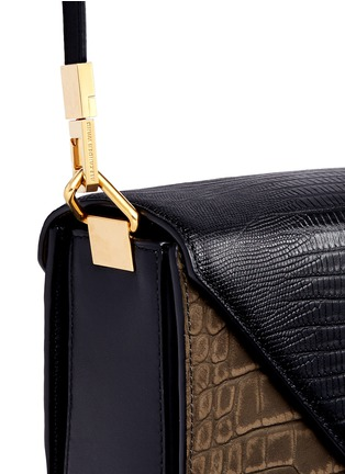 Detail View - Click To Enlarge - ALEXANDERWANG - 'Prisma' small croc lizard embossed sling crossbody bag